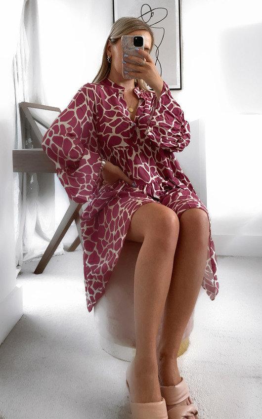 Amber Printed Smock Dress