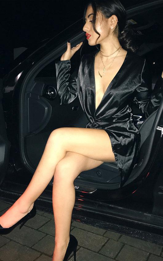 Amelia Wrap Front Dress