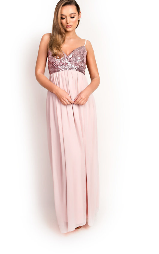 Amelie Sequin Floaty Maxi Dress
