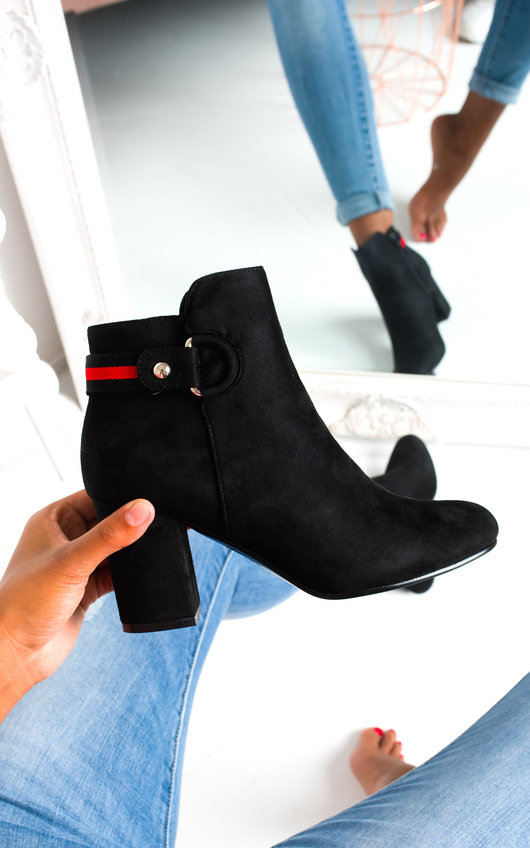 Ami Faux Suede Heeled Boots