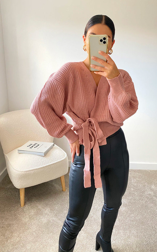 Amie Knitted Wrap Cardigan