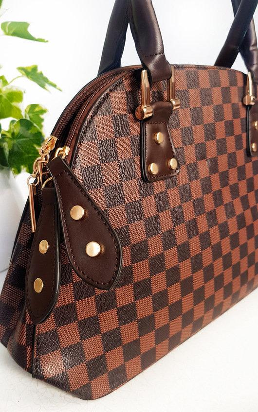 Amina Check Shoulder Bag