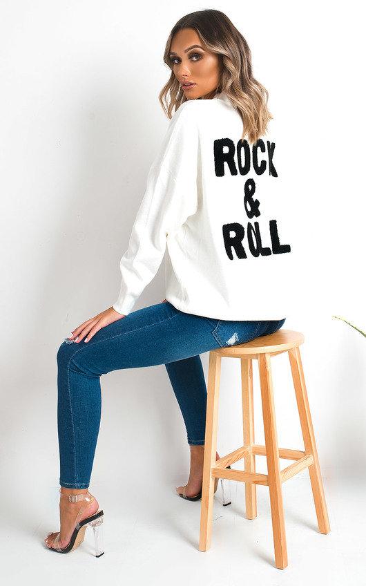 Amy Rock Slogan Jumper