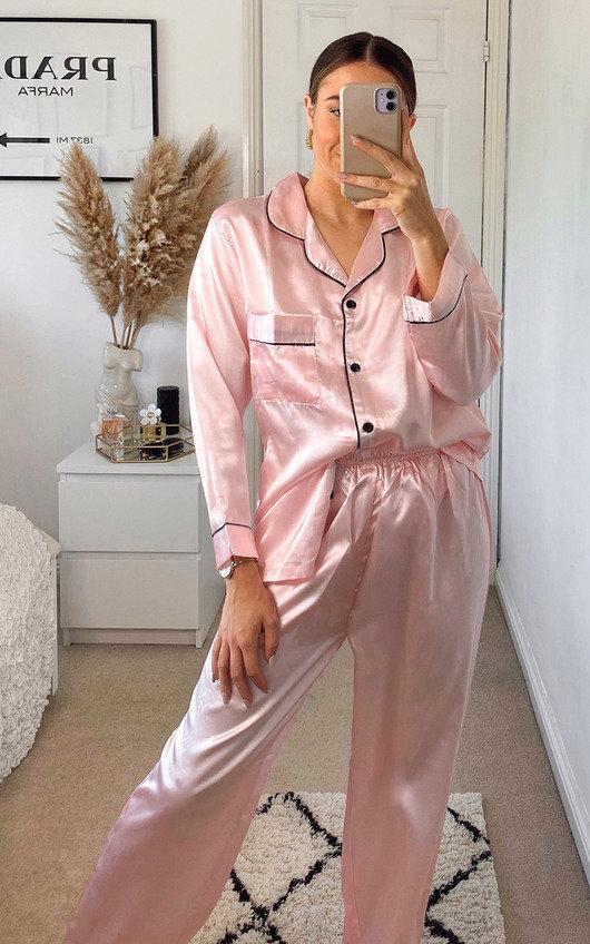 Amy Satin Pyjama Co-ord