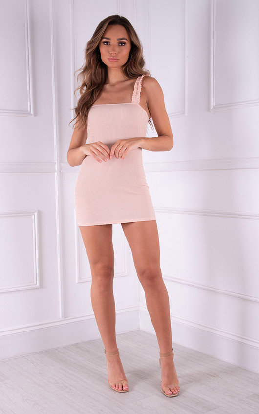 Ana Ruched Strap Detail Mini Dress