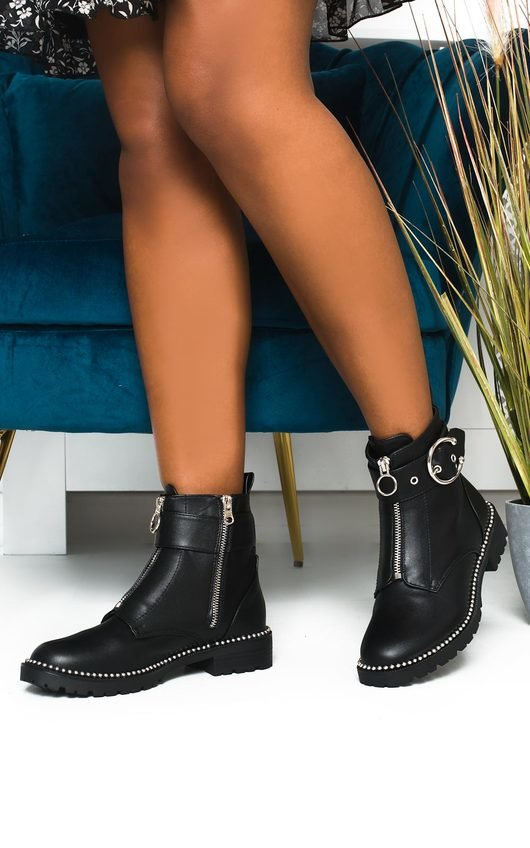 Angelica Zip Up Ankle Boots