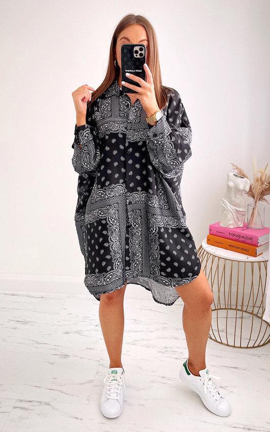 Angelique Printed Shirt Dress