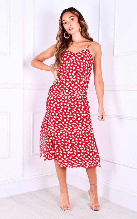 Anita Printed Midi Dress