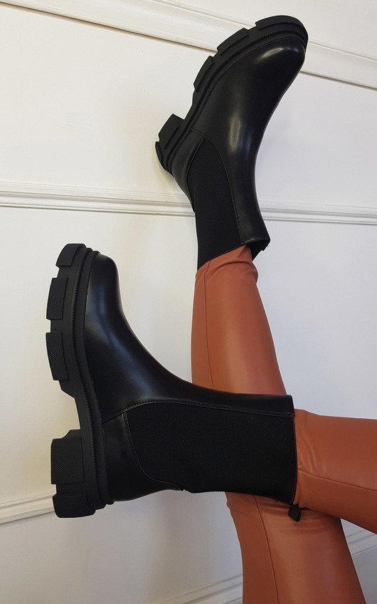 Anja Mid Calf Chunky Boots