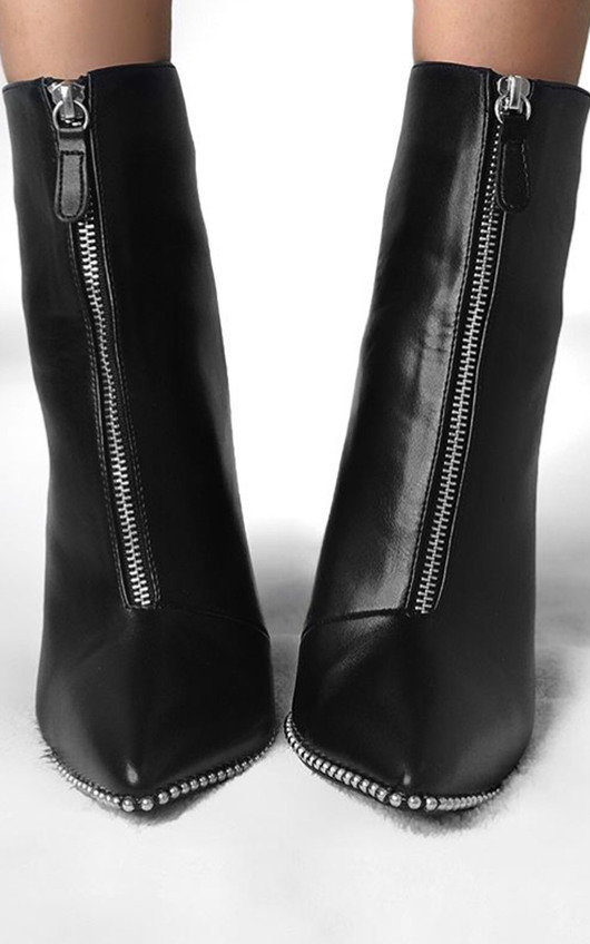 Annabelle Faux Leather Pointed Boots