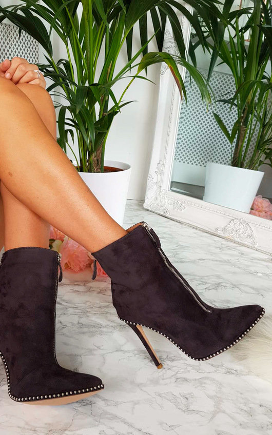 Annabelle Faux Suede Pointed Boots