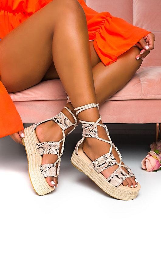 Annie Flatform Rope Sandals