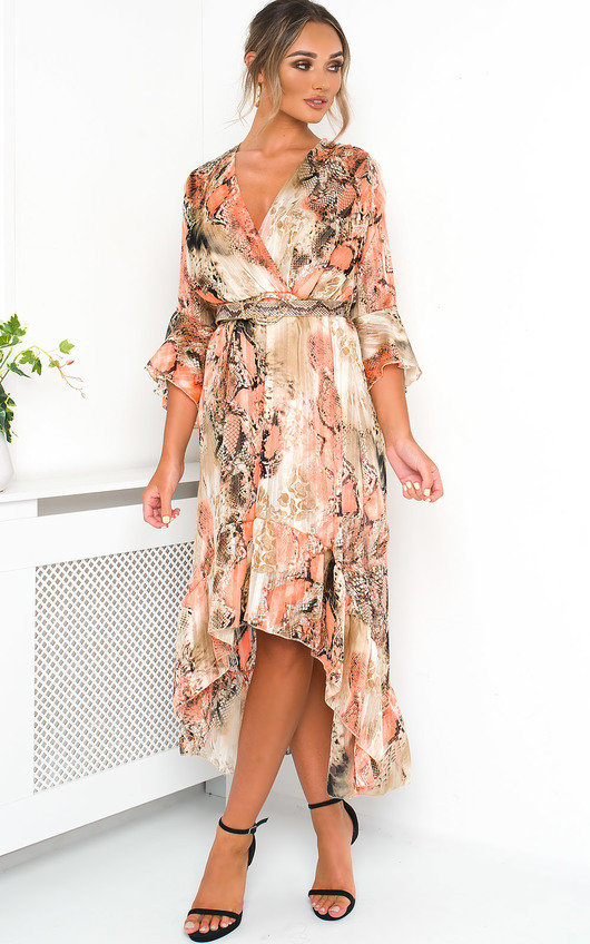 Anya Printed Floaty Maxi Dress