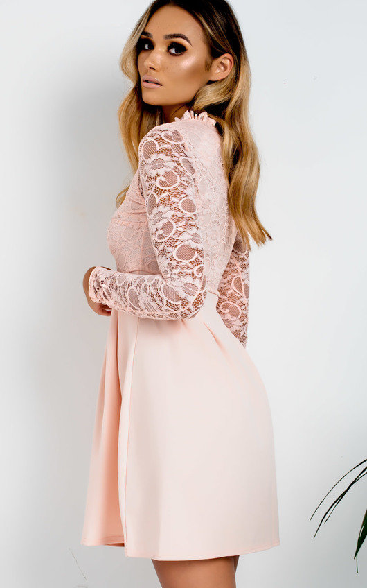 Anyelle Lace Skater Dress