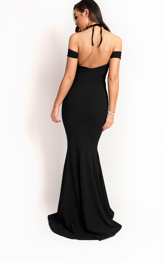 3331954be67 Arabella Fishtail Embellished Maxi Dress in Black