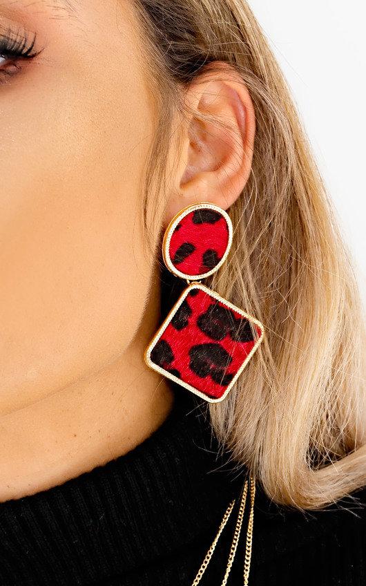 Ari Leopard Print Drop Earrings