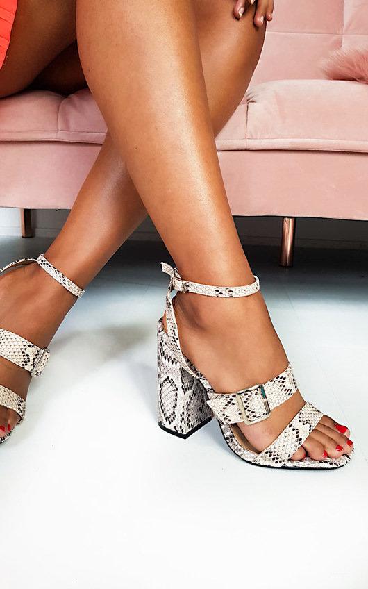 Aria Buckle Block Heels