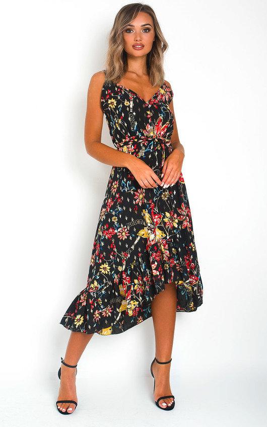 Aria Floral Print Maxi Dress