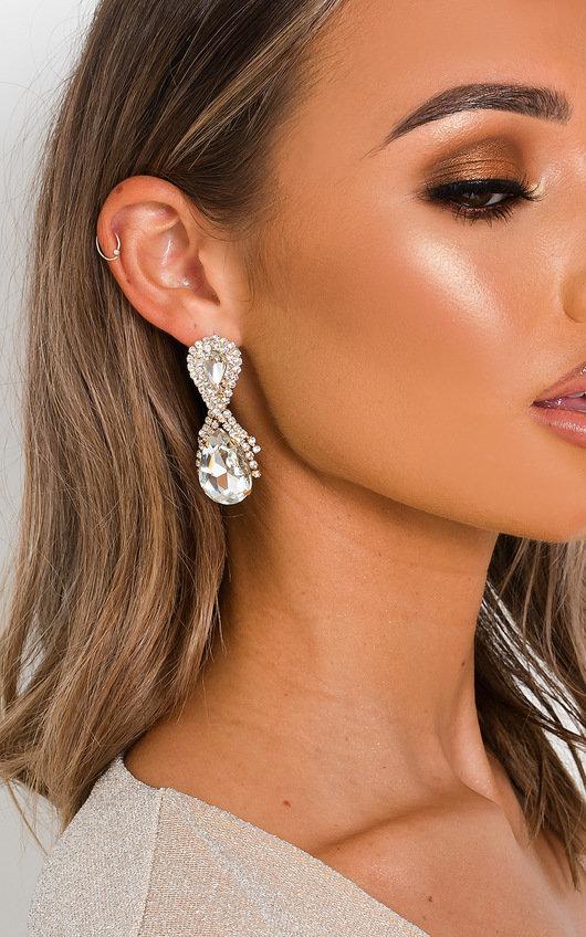 Aria Jewel Drop Diamante Earrings