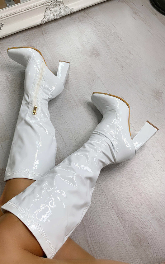 Aria Knee High Heeled Boots
