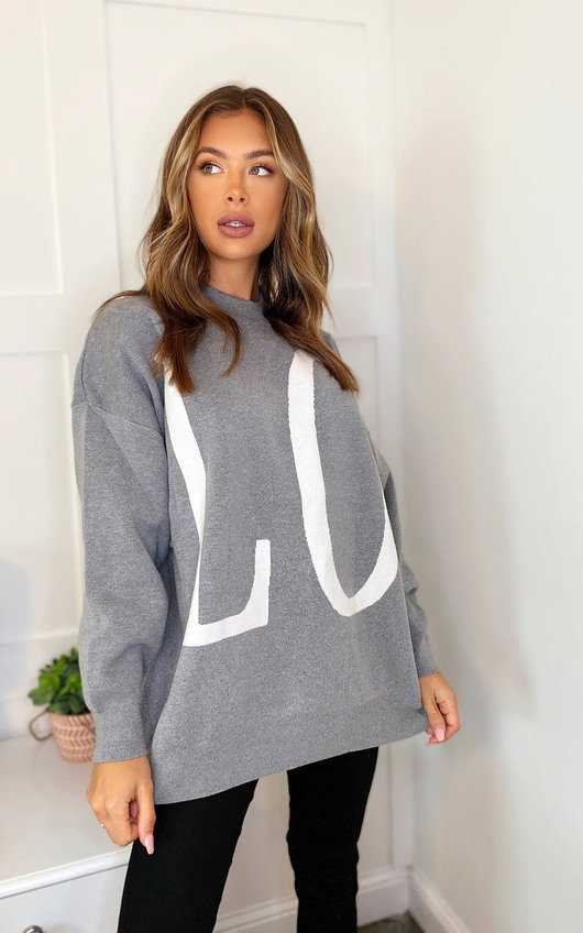 Aria Printed Knitted Jumper
