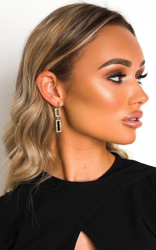 Aria Rectangle Drop Earrings