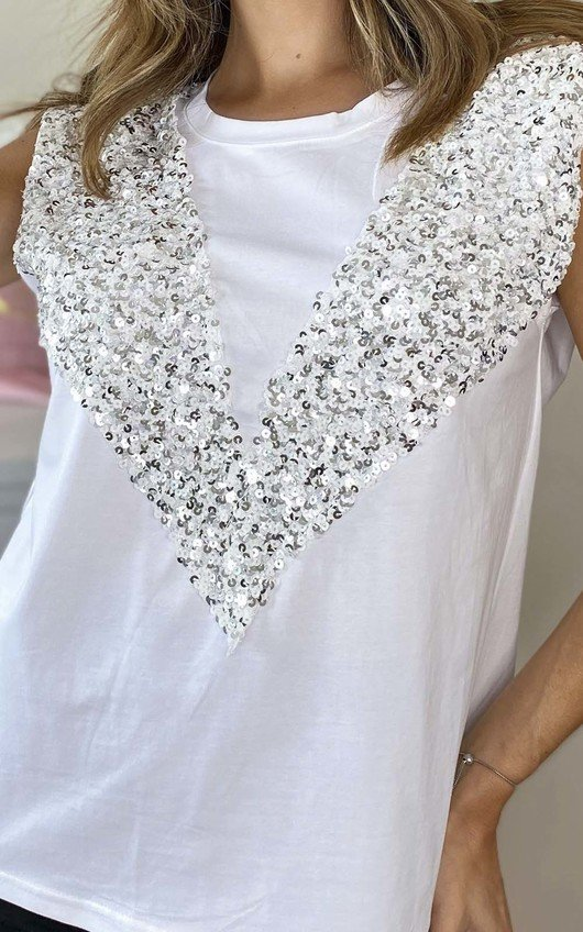 Aria Sleeveless Embellished Top