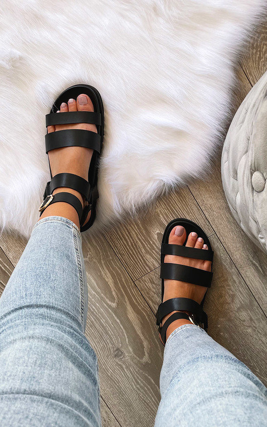 Aria Strappy Buckle Sandals