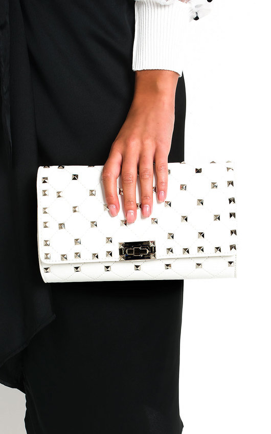 Ariah Studded Clutch Bag