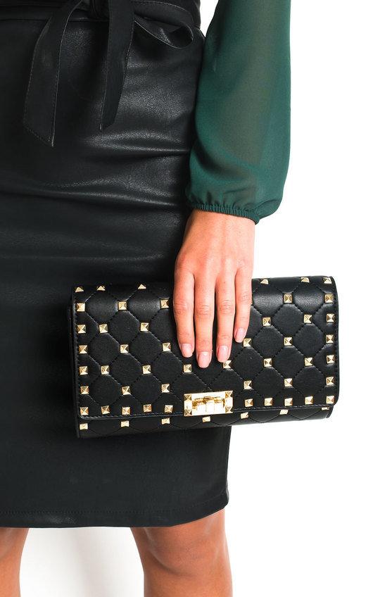 Ariah Studded Clutch Bag