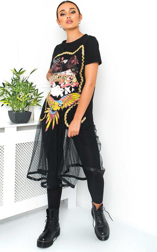 Ariella Printed T-Shirt Dress