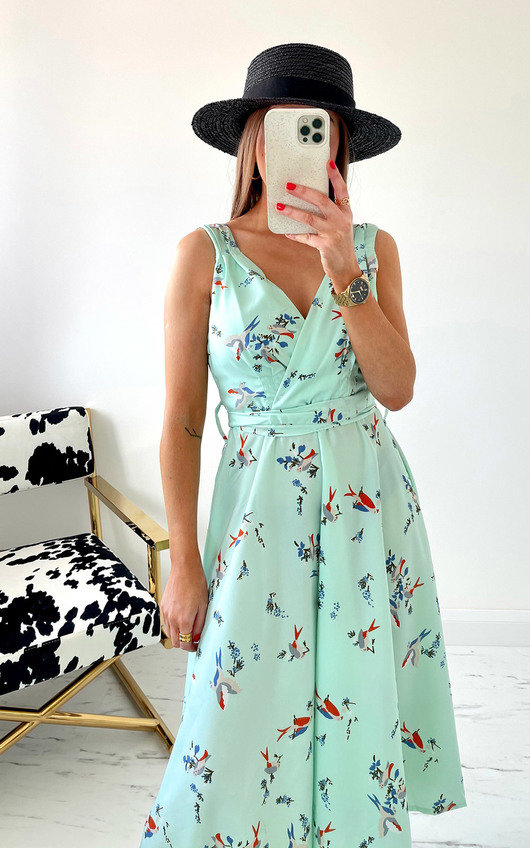 Aries Printed Midi Dress