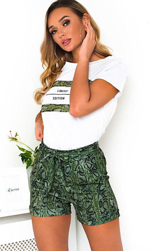 Arla Slogan T-Shirt and Shorts Co-ord