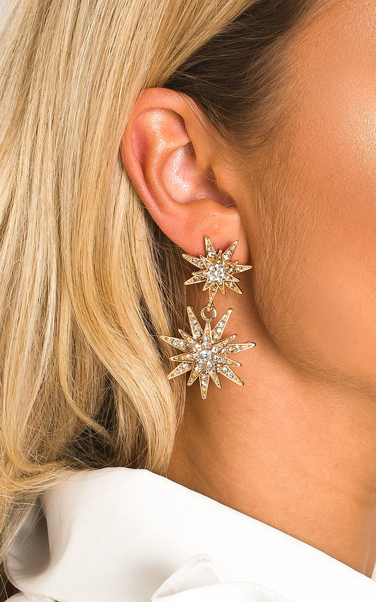Arla Star Diamante Drop Earrings