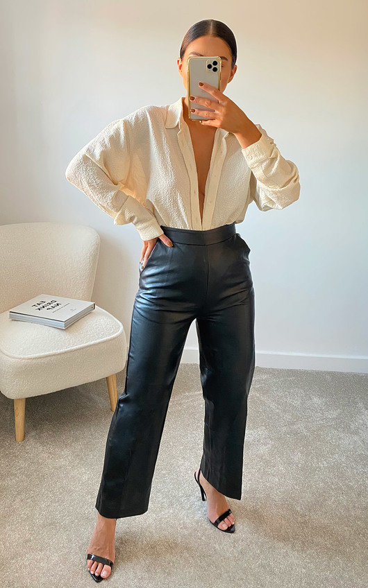 Arlo Faux Leather Trousers
