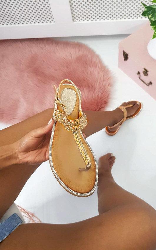 Asher Diamante Embellished T-Bar Sandals