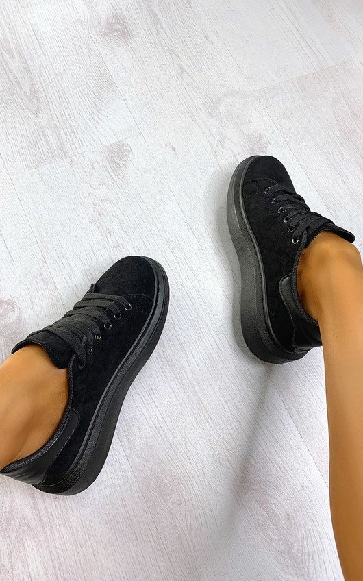 Ashlee Faux Suede Chunky Tainers