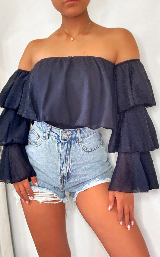 Ashleigh Off Shoulder Layered Top