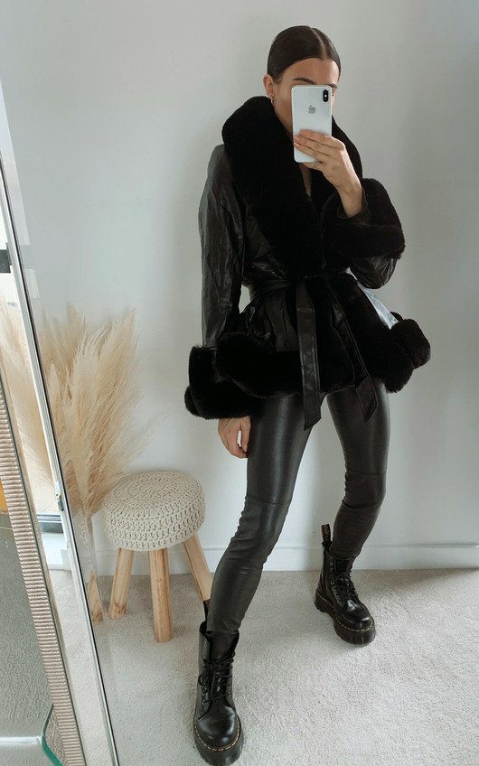 Ashley Faux Leather & Faux Fur Jacket