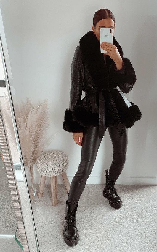 Ashley Faux Leather & Faux Fur Jacket