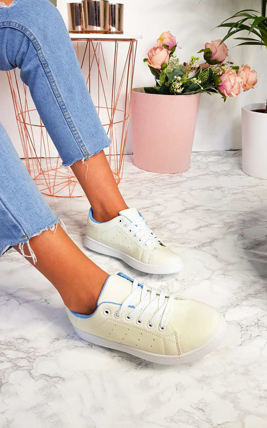 Ashley Faux Leather Trainers
