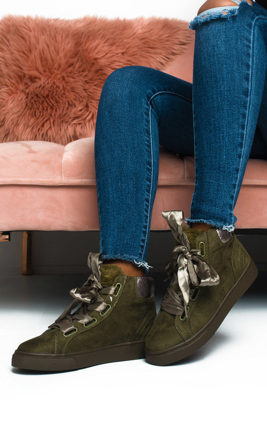Aspen Faux Suede High Top Trainers