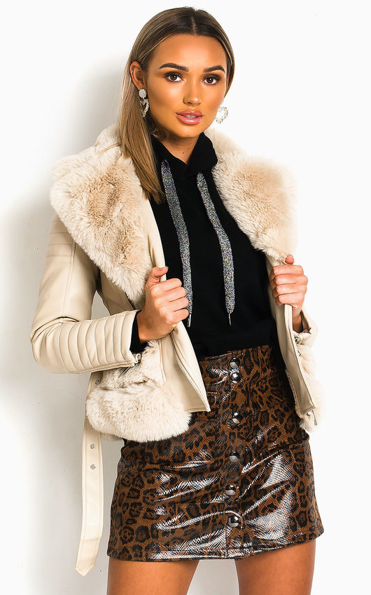 Aster Faux Leather Jacket