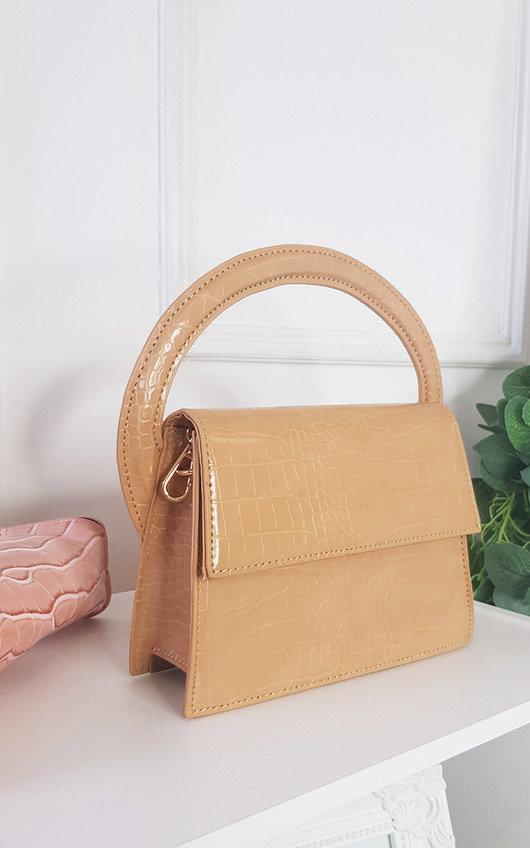 Astrid Croc Print Handbag