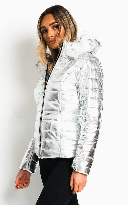 Astro Metallic Padded Puffer Jacket