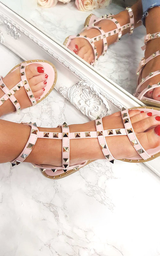 Athena Studded Gladiator Sandals