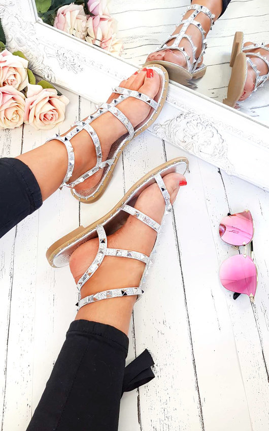 Athena Studded Gladiator Sandals
