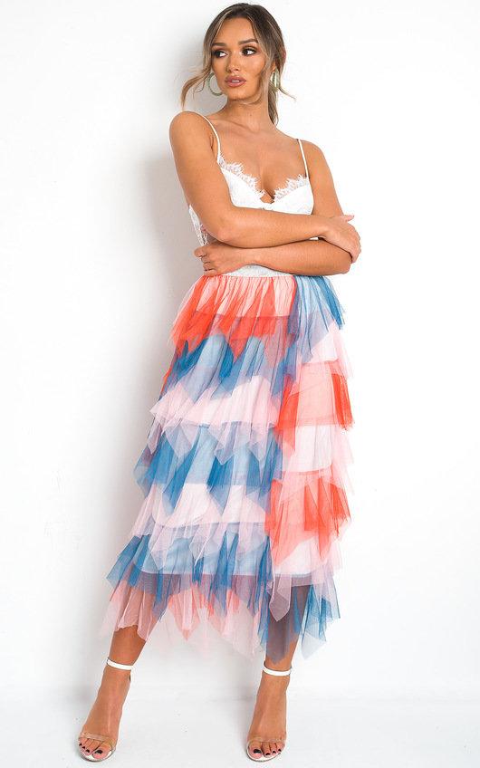 Aurora Layered Net Skirt