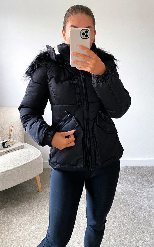 Aurora Padded Jacket with Faux Fur Hood