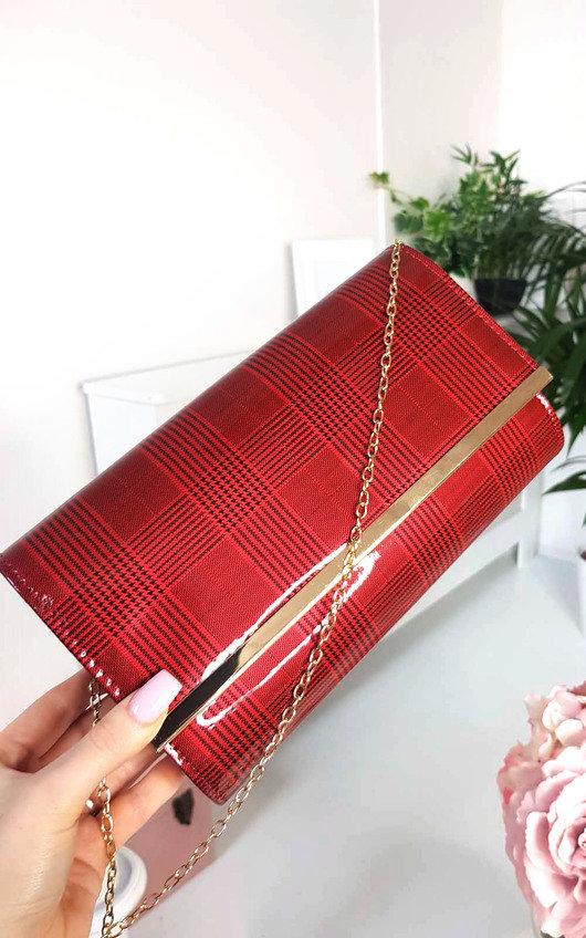Ava Check Envelope Clutch Bag